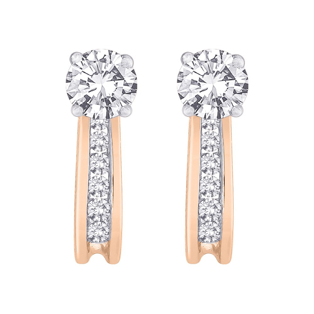 Diamond Earring Jackets in 14K Rose Gold (1/4 cttw) (Color GH, Clarity I1)