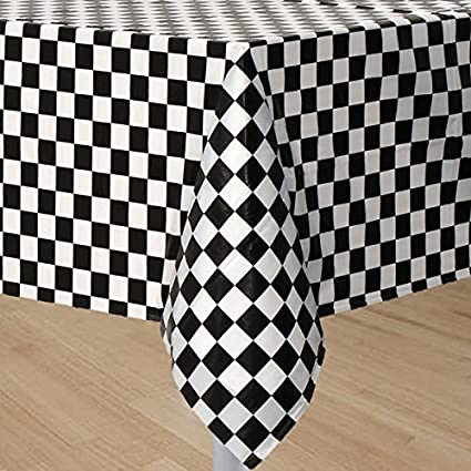Beau GIFTEXPRESS 2 Pack Black U0026 White Checkered Flag Table Cover Party Favor/Checkered  Tablecloth