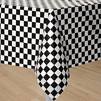 Great GIFTEXPRESS Pack Of 2, Black U0026 White Checkered Flag Table Cover Party Favor/ Checkered