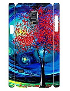 Personalized Beautiful Oil Painting Trees Anti Drop Phone Cover Case for Samsung Galaxy S5 Mini SM-G800
