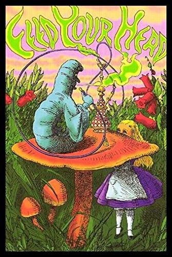 Buyartforless Framed Caterpillar Hookah   Alice In Wonderland Fantasy   Feed Your Head Art Print Poster  36  X 24