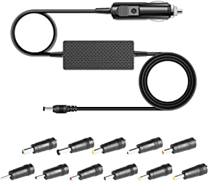 Universal 19V 65W Car Charger, HKY Input 12-24V Output 19V 3.42A DC Travel Adapter with 11 Tips for HP Dell ASUS Acer LG Samsung Laptops TV Monitor Soundbar Harman Kardon Onyx Studio Speaker & More