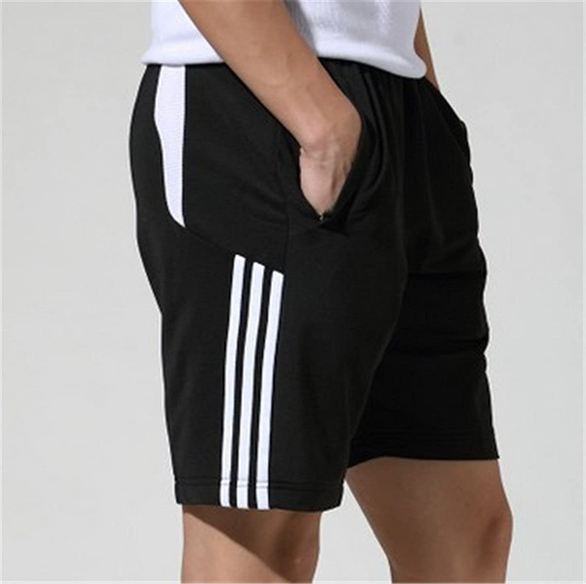 BININBOX Mens Shorts Waistband Stretchy Athletic Running Jogging with Pockets