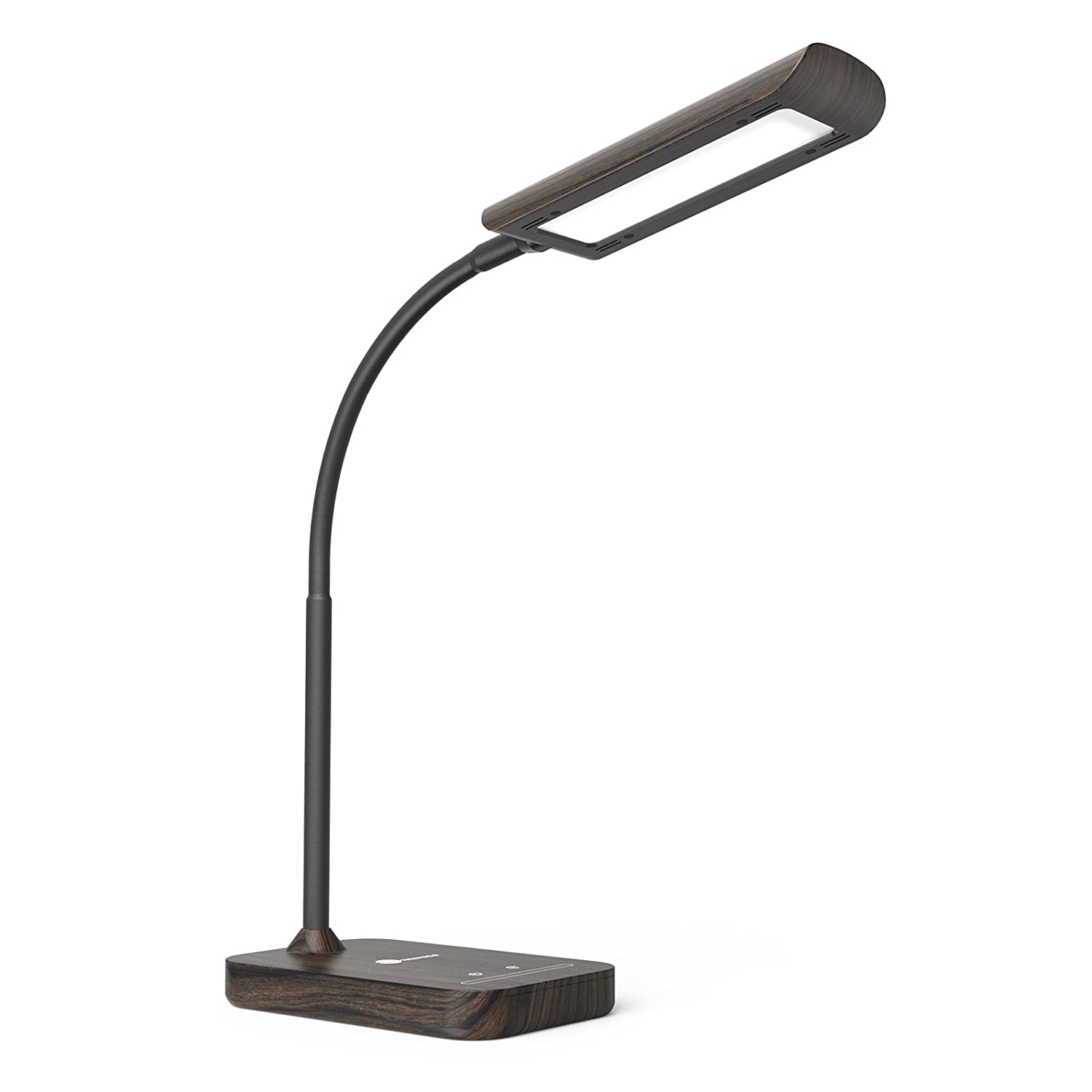 TaoTronics LED Desk Lamp, Flexible Gooseneck Table Lamp, 5 Color Temperatures with 7 Brightness Levels, Touch Control, Memory Function, 7W, Official Member of Philips EnabLED Licensing Program TT-DL11