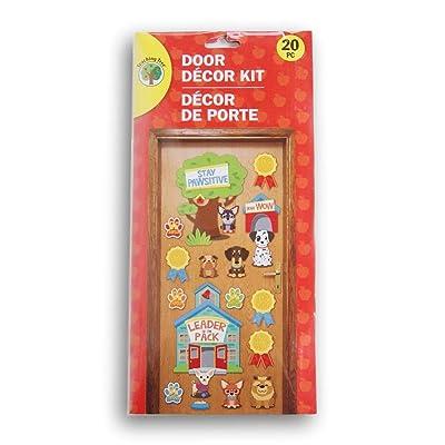 Greenbrier International ''Stay Pawsitive'' Puppy Themed Classroom Door Decor Kit - 20 Piece: Home & Kitchen