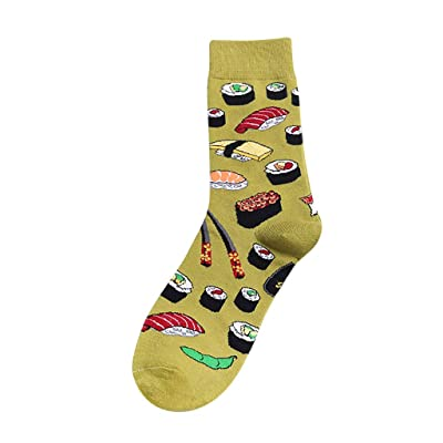 Womens Cotton Crew Socks Fruit Print Warm Socks Colorful Funny Fun Novelty Crazy Cool Cozy Funky Dress Socks: Appliances