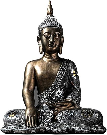 Mnjin Decoración del hogar Estatua de Buda tailandés, Buda Sentado Escultura Buda Zen Jardín Meditación del hogar Interior Grandes Decoraciones budistas 452860Cm: Amazon.es: Deportes y aire libre