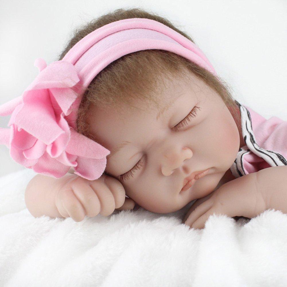 ZIYIUI Realista Reborn Muñecas bebé 22 Pulgadas 55cm Suave Vinilo de Silicona Reborn Lifelike Bebé Recién Nacido Regalo de Juguete