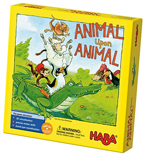 HABA Animal Upon Animal - Classic Wooden Stacking Game Fun for the Whole Family (Made in (Snake Eyes Players)