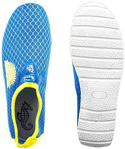 Sol Coastal Women's Shore Runner Water Shoes (Waterfall Blue, Size 8)