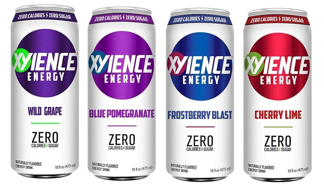 Xyience Energy Variety Pack : Wild Grape, Blue Pomegranate, Frostberry, Cherry Lime. 16fl.oz (Pack of 8)