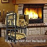 Fireplace Log Holder 2 Layer Iron Fire Wood Rack