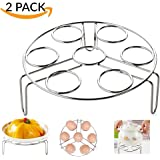 2 Pack Steamer Rack for Instant Pot Accessories Egg Vegetable Steam Rack Stand for Pressure Cooker Accessories