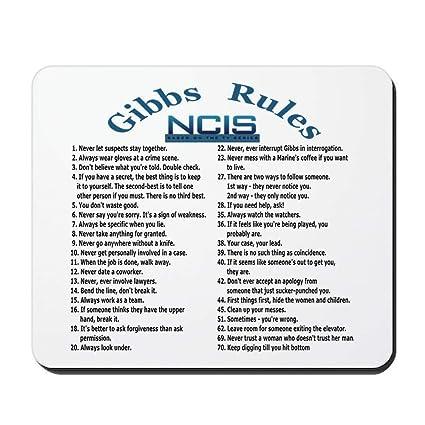 image regarding Ncis Gibbs Rules Printable List identify : NCIS Gibbs Recommendations - Non-Slip Rubber Mousepad