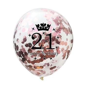Foil Latex Balloon Set Helium Star Wedding Birthday Party Decor//Rose Gold