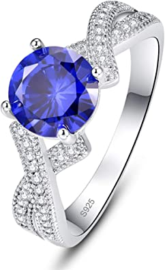YouCY Drop-Shaped Zircon Ring Engagement Promise Rings Women/'s Fashion Jewelry for Female Girls Ladies Gift,Blue,Size 6