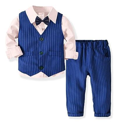 Camisa de Vestir Casual de poliéster con Botones de Color Puro para niños  Slim Fit + 69e47a457d9c
