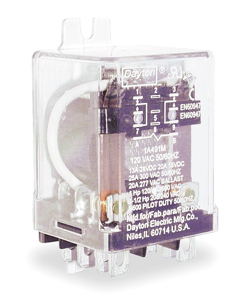 120VAC DPDT 8 Pin Enclosed Power Relay