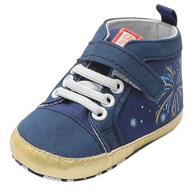 Zapatos Bebe Primeros Pasos, ❤ Zolimx Zolimx Otoño Bebé Recién Nacido Niño Niñas Chicos Fuegos Artificiales Estrella Imprimir Zapatos de Bota Suave: ...