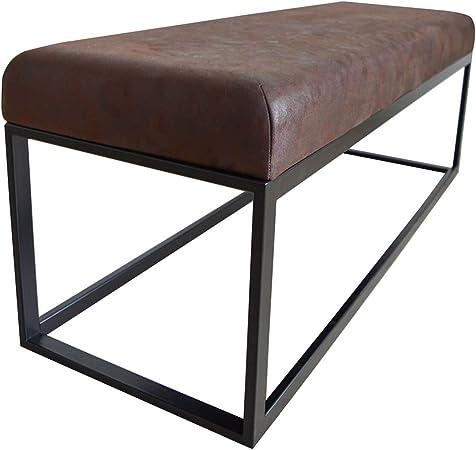 Damiware Couchy Burgundy Panca Design per Sala da Pranzo Panca d Ingresso in Cucina o Il corridoio Lunghezza 121 cm |
