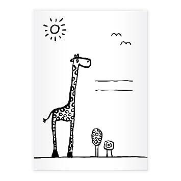 4 Nette Din A4 Schulhefte Schreibhefte Mit Giraffen Umschlag Zum