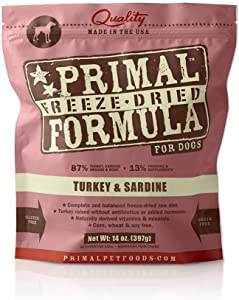 Primal Pet Foods Freeze-Dried Canine Turkey and Sardine Formula