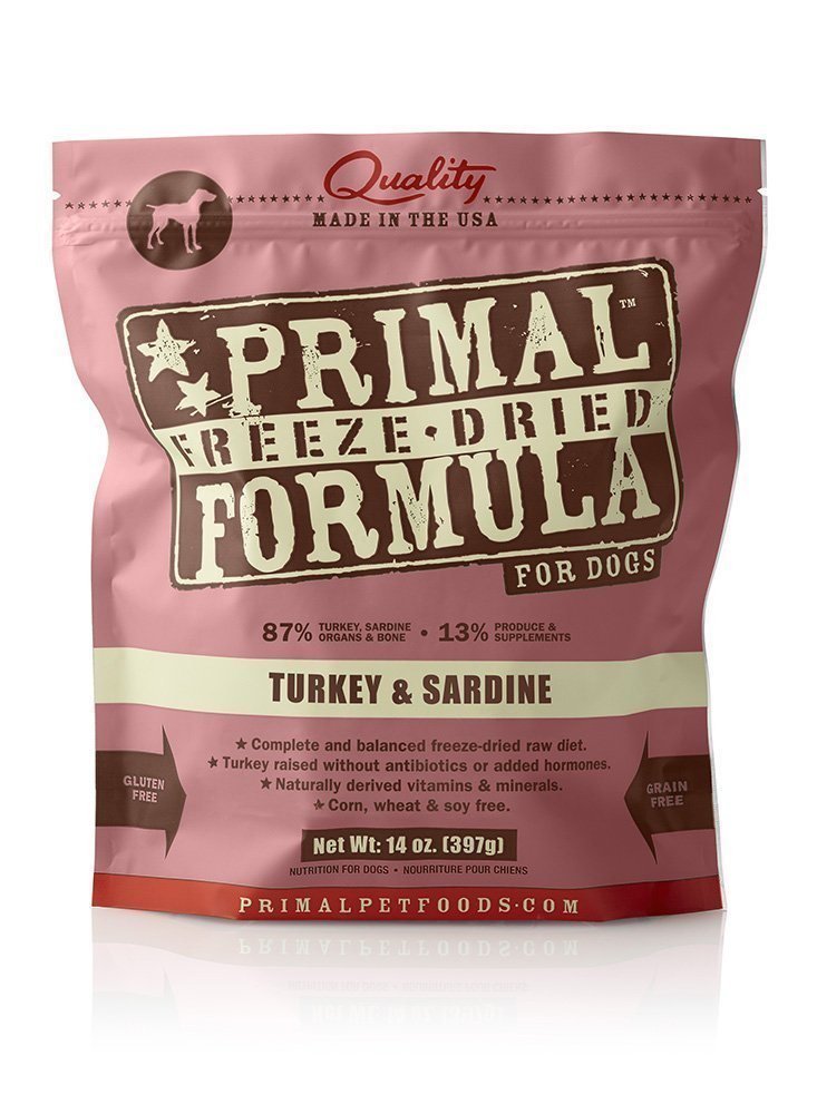 Primal Pet Foods Freeze-Dried Canine Turkey and Sardine Formula, (Pack of 2, 14 Oz) by Primal Pet Foods