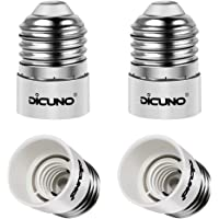 DiCUNO E27/E26 to E14 Adaptor, LED Light Bulbs Converter, Max Wattage 200W, 165 Degree Heat Resistant (4-Pack)
