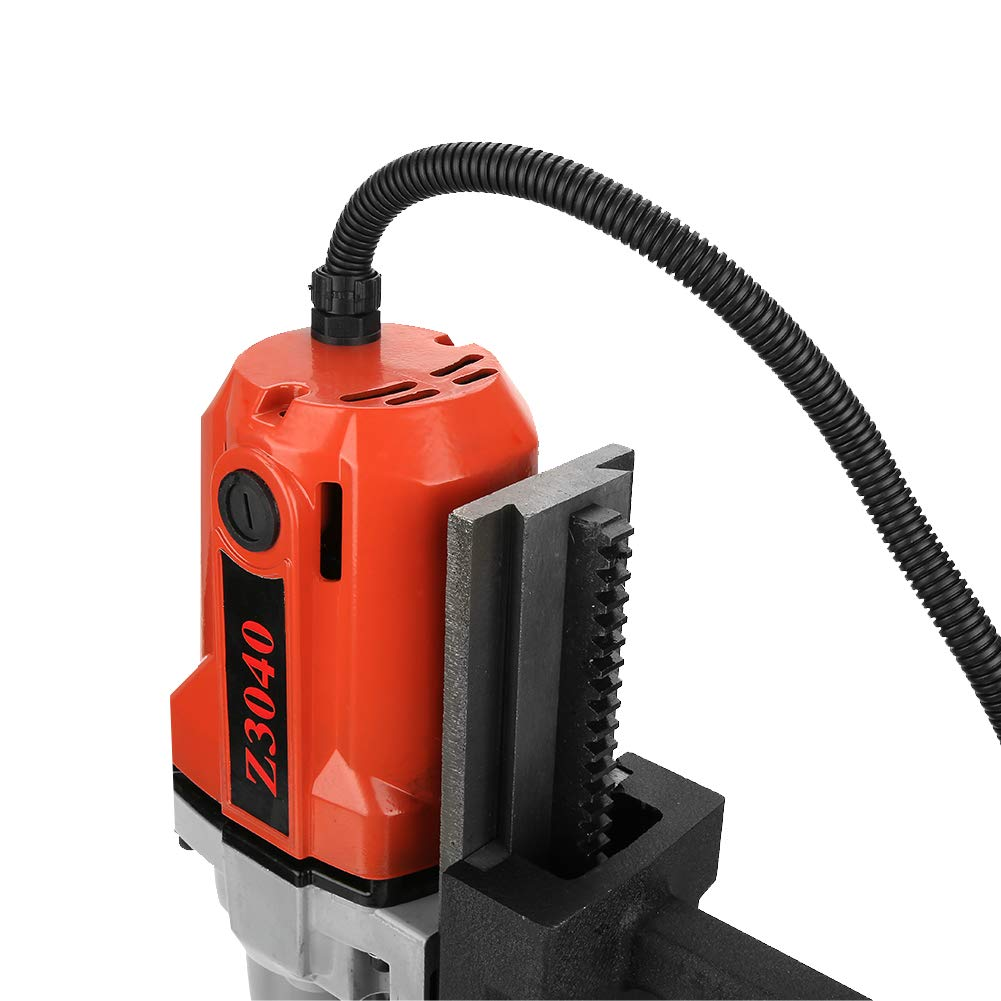 220V 1100W 12000N 50mm Depth No-load Speed 550RPM Electromagnetic Suction Multi-Functionaln High Power and Utility Metal Magnetic Drill Set Magnetic Drill Press