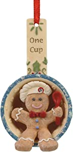 Enesco Heart of Christmas Gingerbread Cup Hanging Ornament, 3.15 Inch, Multicolor