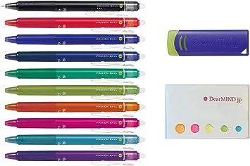 3 Color Set Pilot FriXion Ball Point Knock 0.5 or 0.7mm Erasable Gel Ink Pens