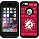 Alabama - Repeating design on Black OtterBox Defender Series Case for iPhone 6 Plus and iPhone 6s Plus