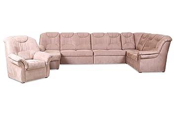 Sofa Wohnlandschaft Linus Mit Sessel Mit Relax Braun Luxus
