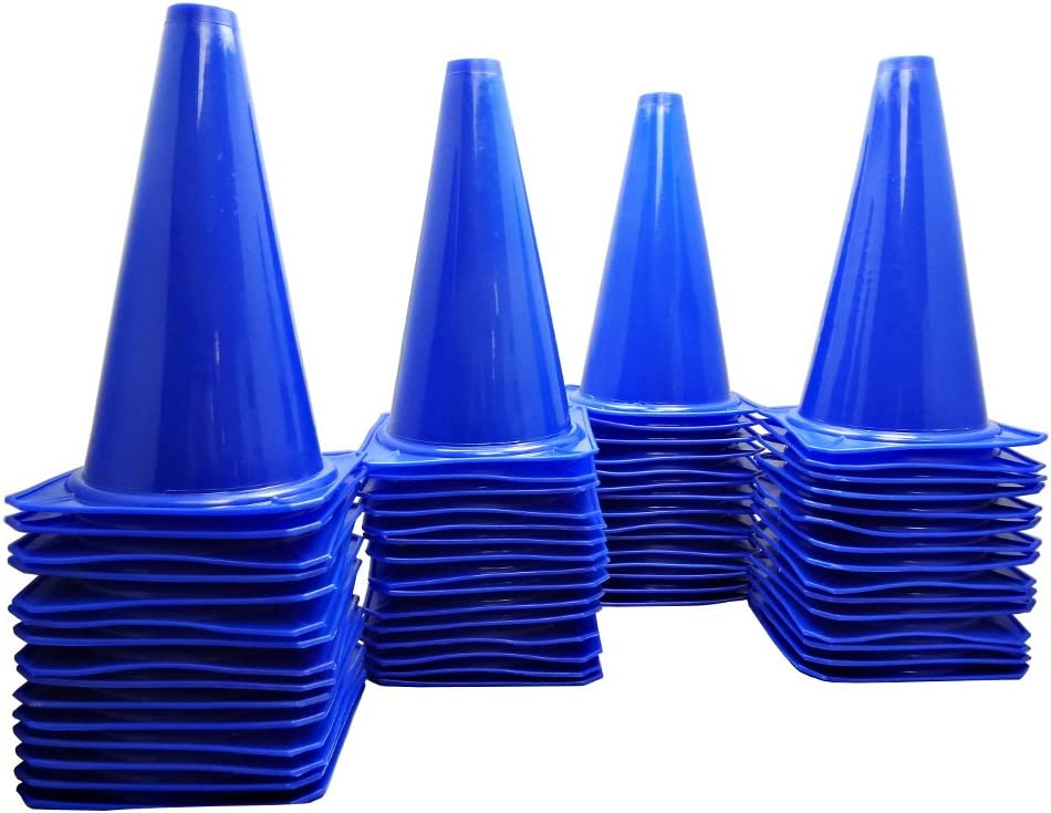 BlueDot Trading Cones (60-Pack), 9-Inch, Blue : Sports & Outdoors