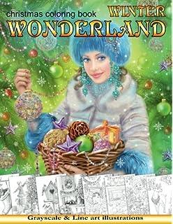 Amazon Com Santa S Christmas Grayscale Adult Coloring Book