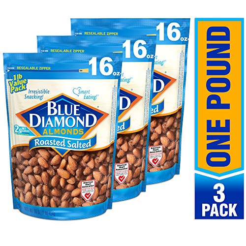 Blue Diamond Almonds, Roasted Salted, 16 Ounce (Pack of 3) by Blue Diamond Almonds (Image #3)