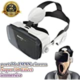 VR Headset 3D VR Glasses 360° Viewing Immersive Virtual Reality Headset Built-in Headphone for iPhone 6/6 Plus 4.0-6.0 inches Android IOS Smartphones