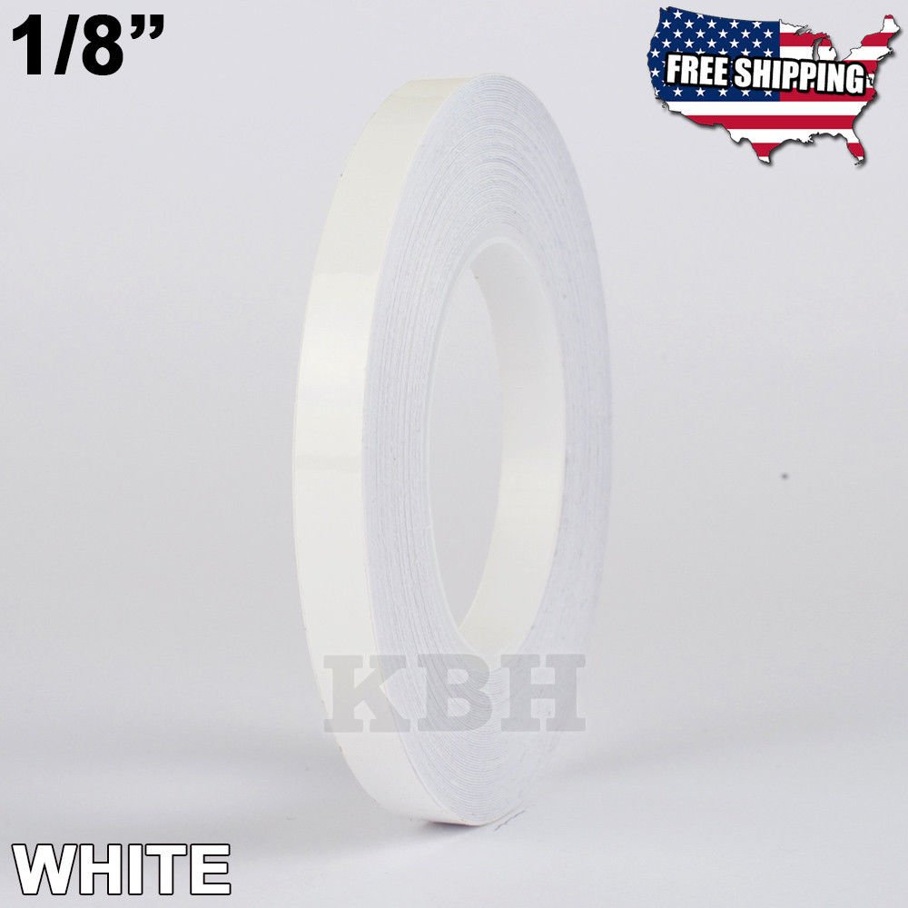 USA Premium Store 1/8'' Roll Vinyl Pinstriping Pinstripe Soild Line Tape Decal Sticker 3mm WHITE by USA Premium Store