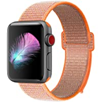 GIPENG Cinturino per Apple Watch 38MM 40MM 42MM 44MM, Morbido Nylon Cinturini Sostituzione Sportiva per iWatch Serie 4, Serie 3, Serie 2, Serie 1