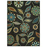 Maples Rugs Area Rugs – Reggie Artwork Collection 5 x 7 Non Slip Large Rug [Made in USA] for Living Room, Bedroom, and Dining Room, 5′ x 7′