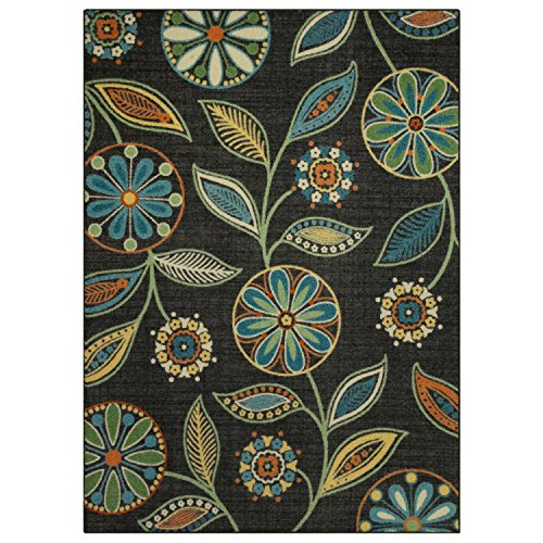 Maples Rugs Area Rugs - Reggie Artwork Collection 5 x 7 Non Slip Large Rug [Made in USA] for Living Room, Bedroom, and Dining Room, 5' x 7'