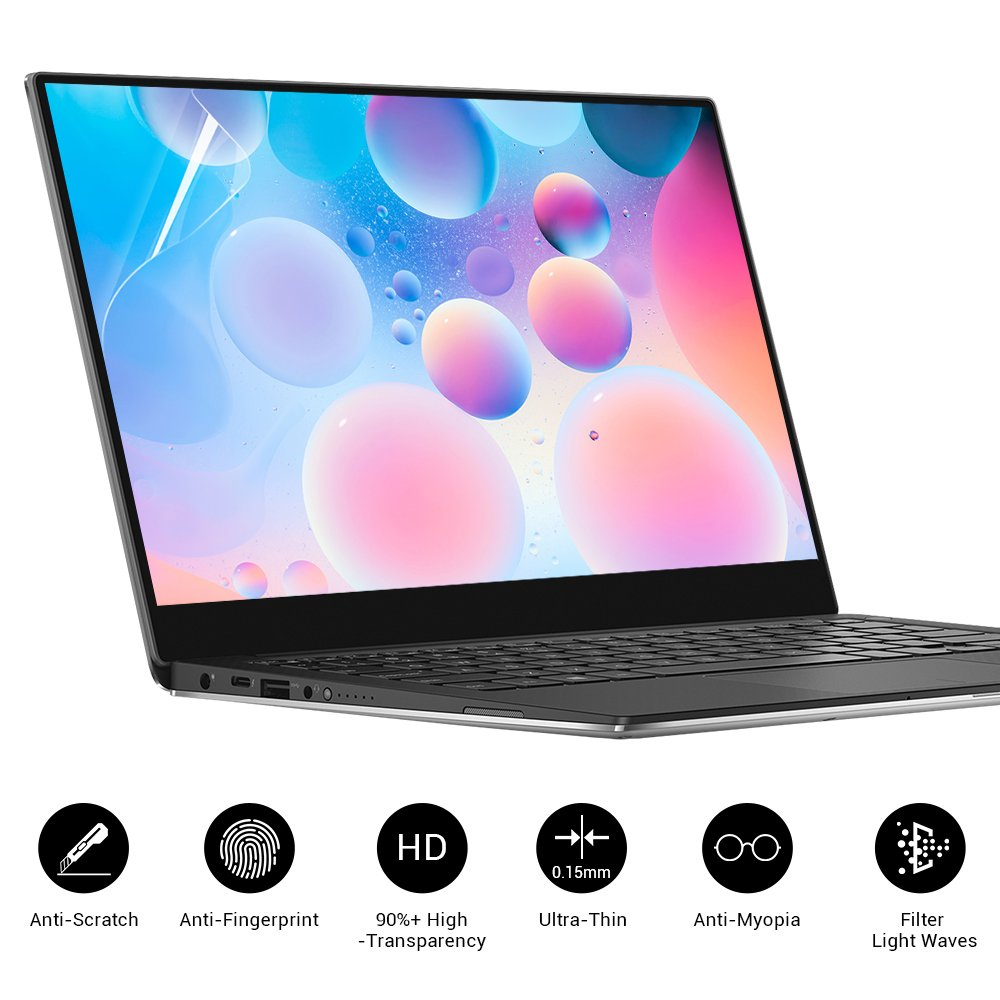 EyeO2 Laptop Screen Protector 14 Inch HD Fingerprint-free & Anti-glare Computer Film Notebook Screen Touch Cover Screen Guard High Clarity Filter Radiation Anti-myopia