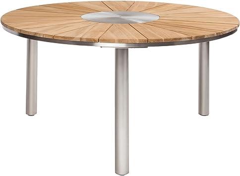 Table de jardin Table de jardin outliv. Vienne Ø150 cm Inox ...