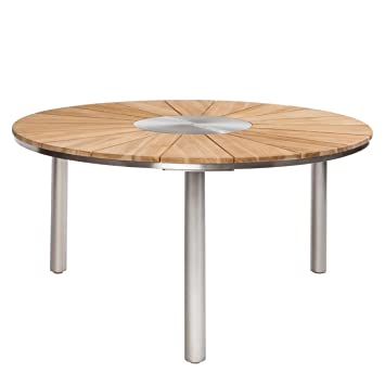 Table de jardin Table de jardin outliv. Vienne Ø150 cm Inox/teck ...