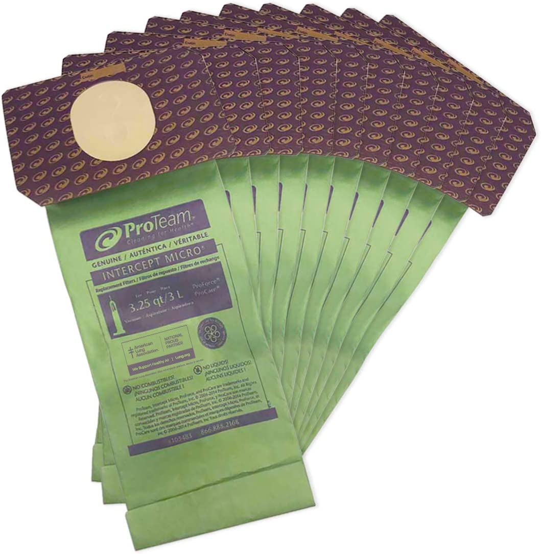 ProTeam Upright Vacuum Bags HEPA Type Extreme Filtration 6 Pack