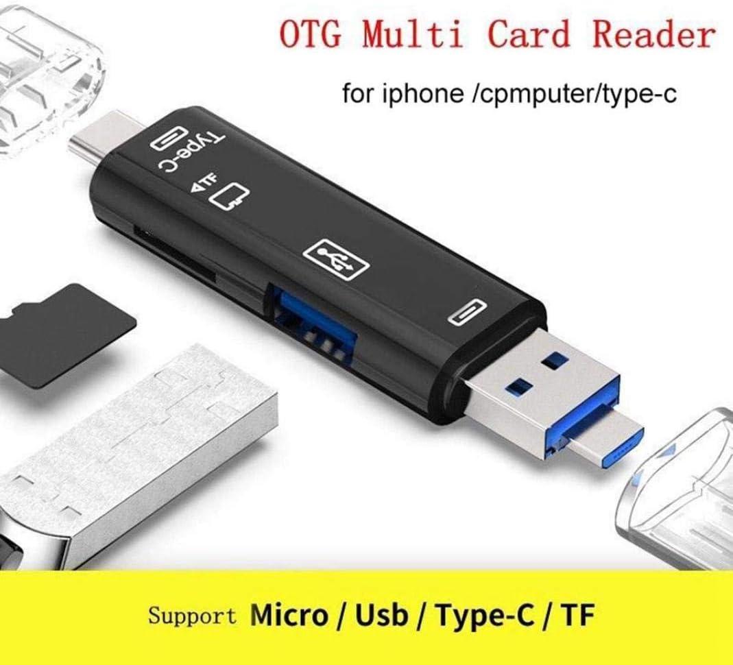 Mini Portable Micro USB 2.0 Type-C TF Security Digital Card Reader OTG Adapter