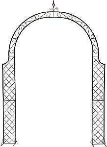 F-XW Iron Arbor Garden Arch Trellis Metal Archway Durable Wedding Arbor, for Climbing Plant Bridal Party Decoration Pergola Arches, H280cm/9ft x W200cm/6.5ft