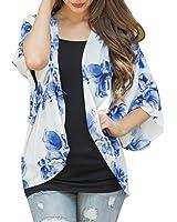 Women Floral Open Cape Casual Coat ❤Luca ❤ Loose Blouse kimono Jacket Cardigan