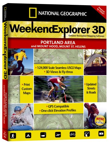 (National Geographic TOPO! Weekend Explorer 3D (Portland Area, Mt. Hood, Mt. St. Helen's) )