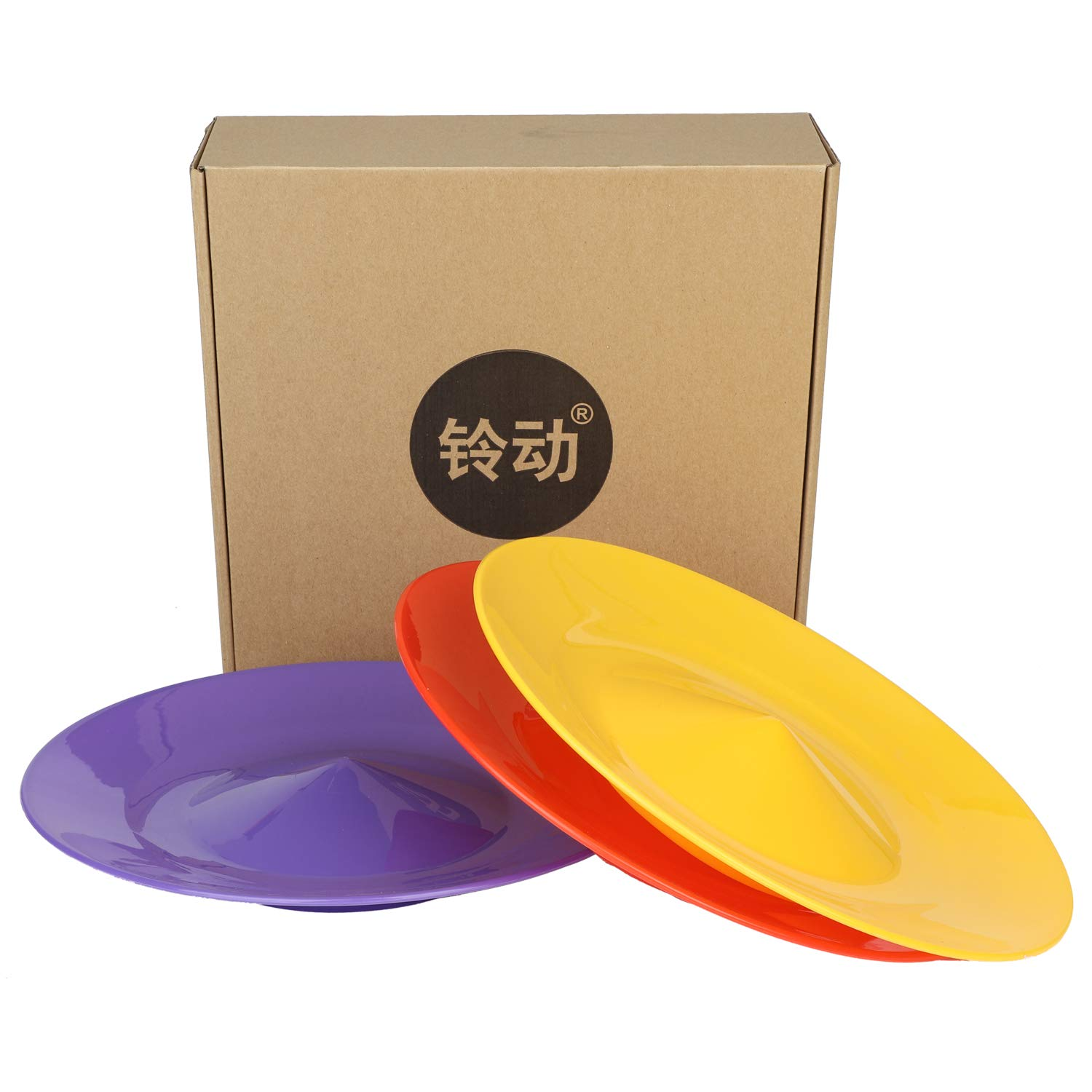 YuXing Professional Spinning Plates / Juggling Plates Set of 3 (11'' 3.8OZ Red Yellow Purple) with 3 Durable Sticks (22.6 Inches 0.7 Ounce) Fit All by YuXing TOY (Image #2)